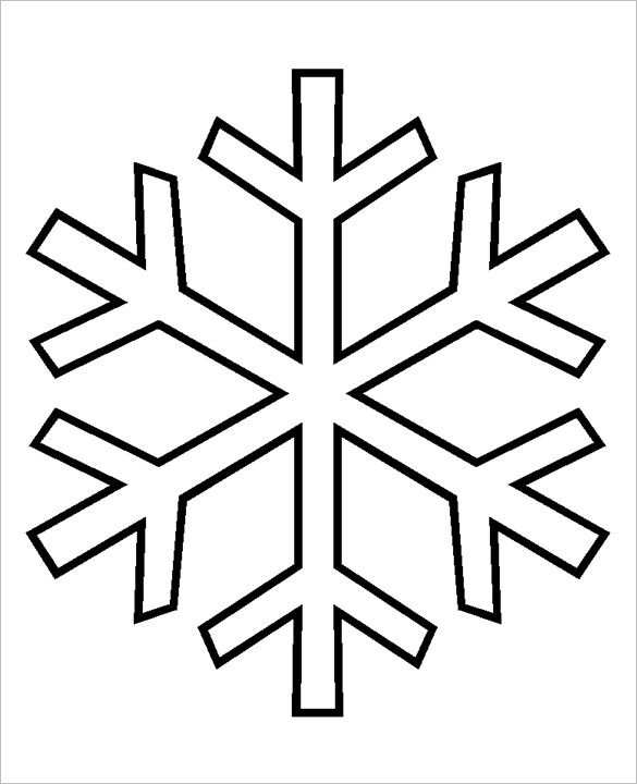 Free Snowflake Patterns Simple Winter Snowf