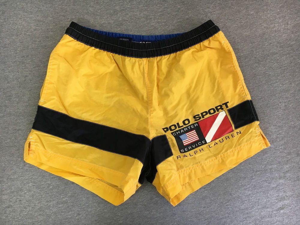 ca3a5184f5 ... buy polo sport shorts 90s vtg ralph lauren charter service swim trunks  sail rare s polosport