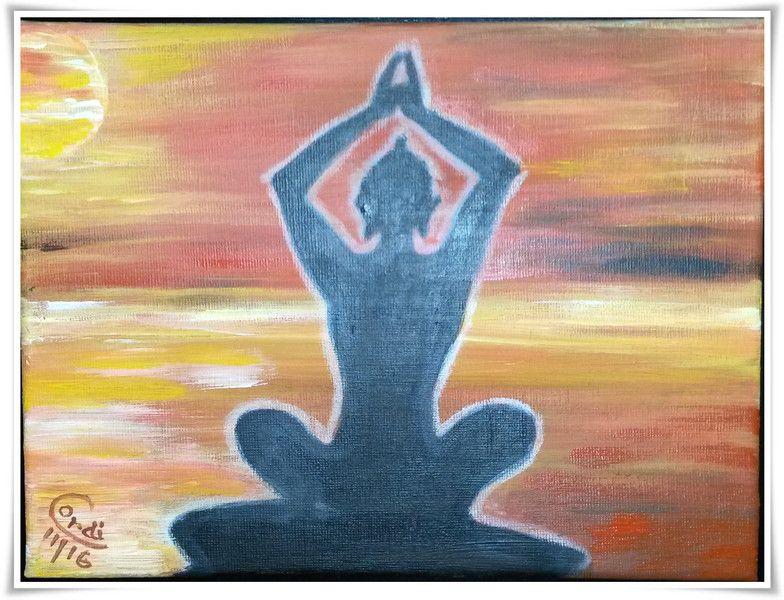 Acrylmalerei - Acrylbild Meditation am Morgen - ein Designerstück von HOAMELIGundSCHEAN bei DaWanda