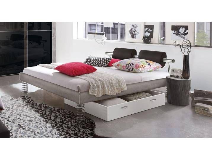 Designerbett Mit Sprungfeder Fussen 120x210 Cm Anthrazit Bett