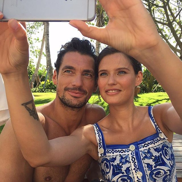 Dolce & Gabbana Light Blue Stars David Gandy + Bianca