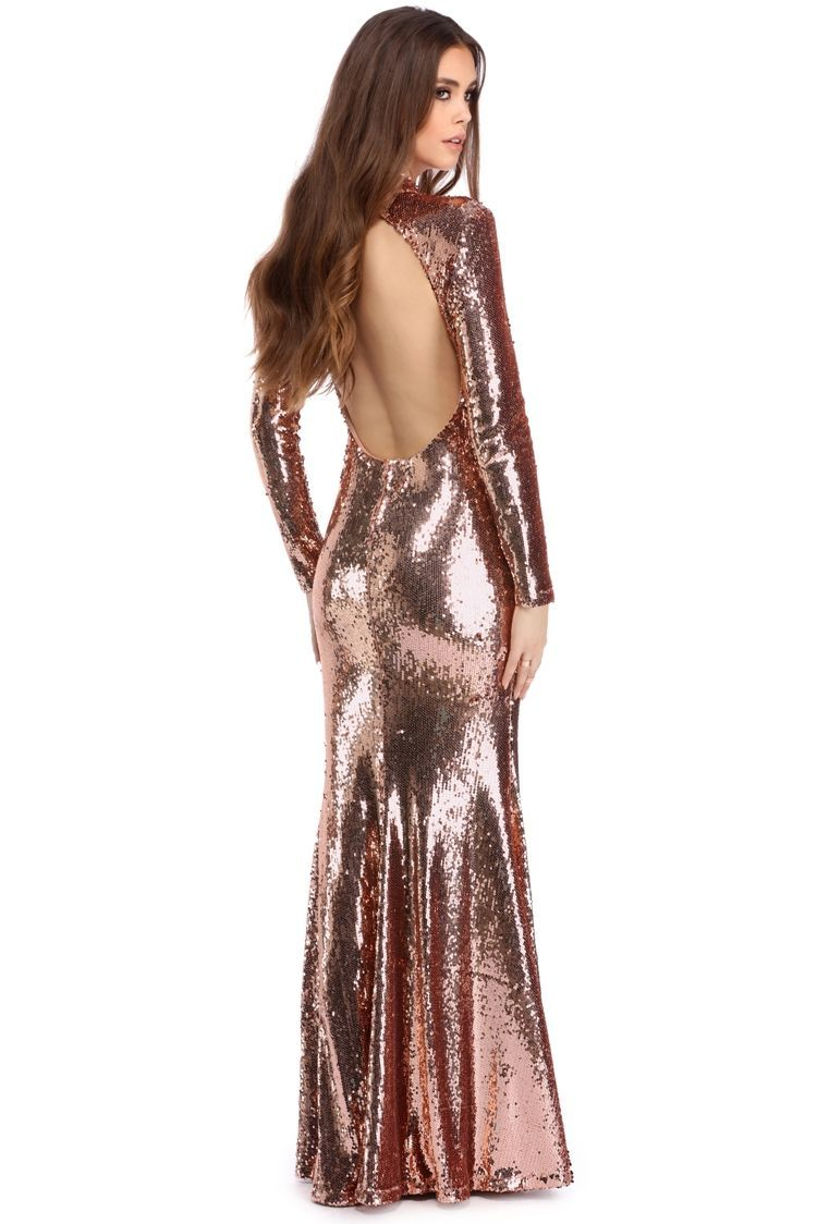 Ariel rose gold sequin gown windsorcloud prom pinterest gold