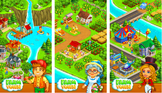 Farm Town Happy Village Mod Unlimited Money Free For Android