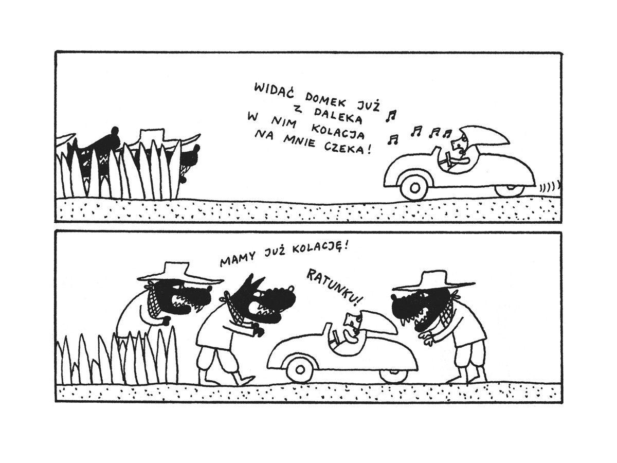 Gucio I Cezar Comics Cartoon Art