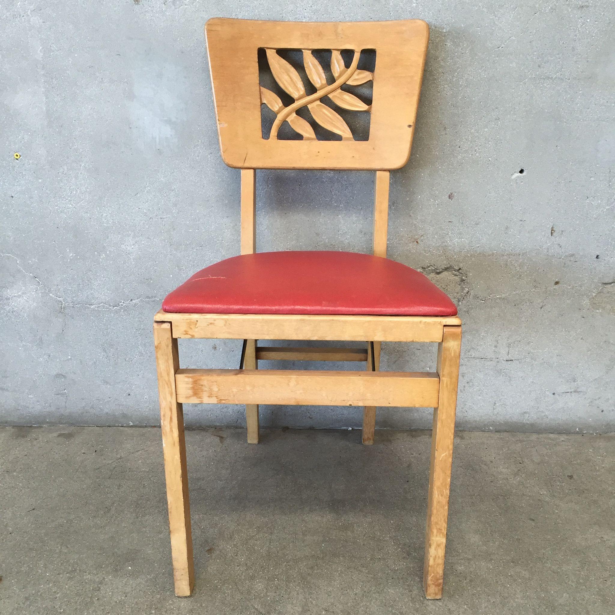 Vintage Stakmore Folding Chair Flea Market Flip