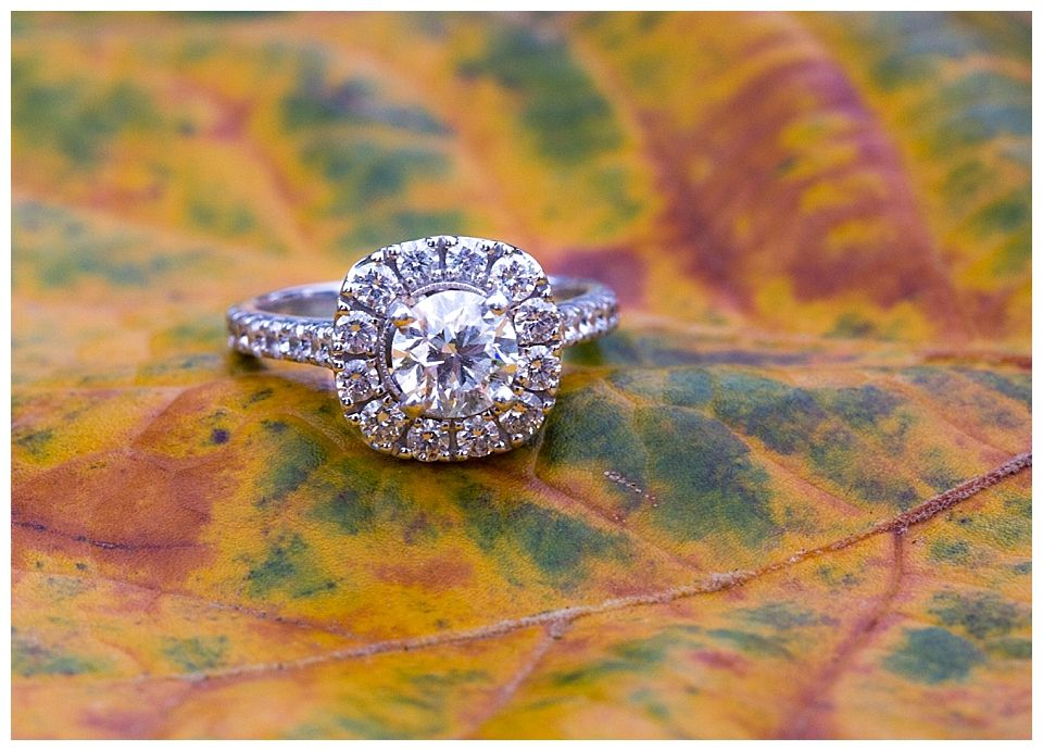 Engagement ring photo at Keeneland in Lexington Kentucky See