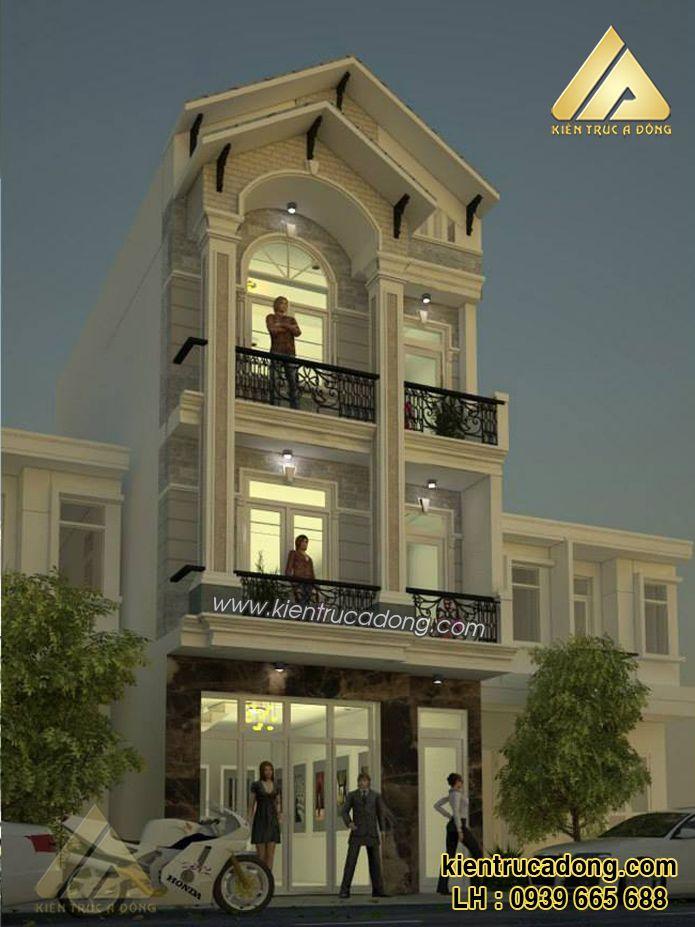 Mẫu thiết kế nhà phố đẹp hiện đại http://www.kientrucadong.com/mau-nha-pho-dep-677-103.html