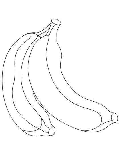 yellow bnanana coloring pages  download free yellow