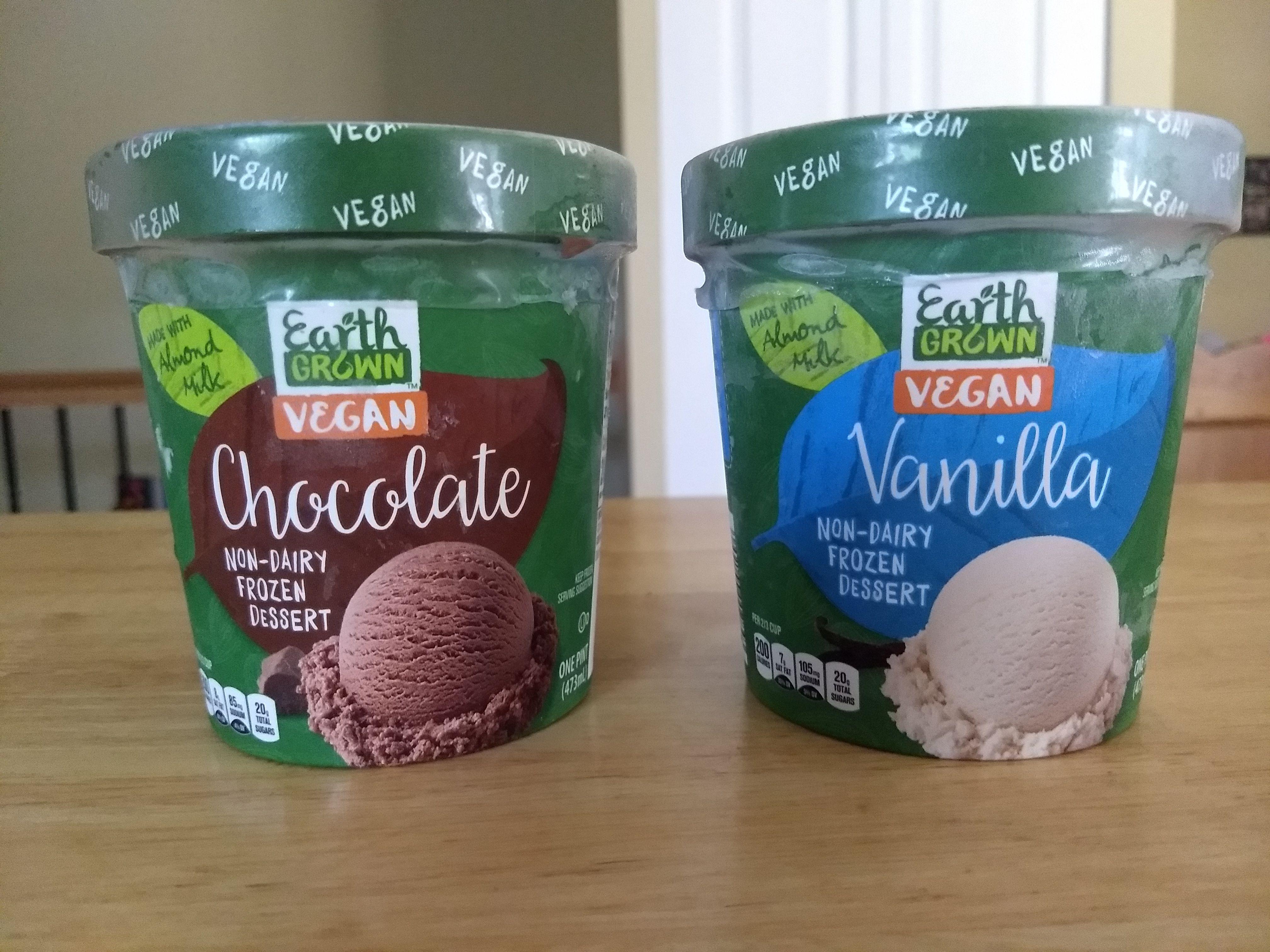 Earth Grown Vegan Non Dairy Frozen Dessert Almond Milk Frozen