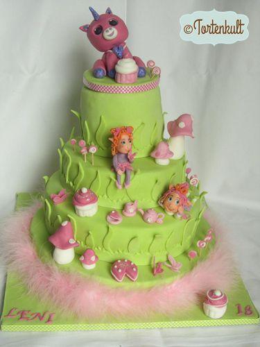 4 st ckige torte zum 18 geburtstag 4 tier fairy tail birthday cake tortenkult 39 s motivtorten. Black Bedroom Furniture Sets. Home Design Ideas