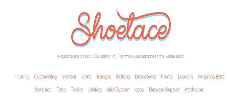 Shoelace.css – Basics CSS Starter Kit