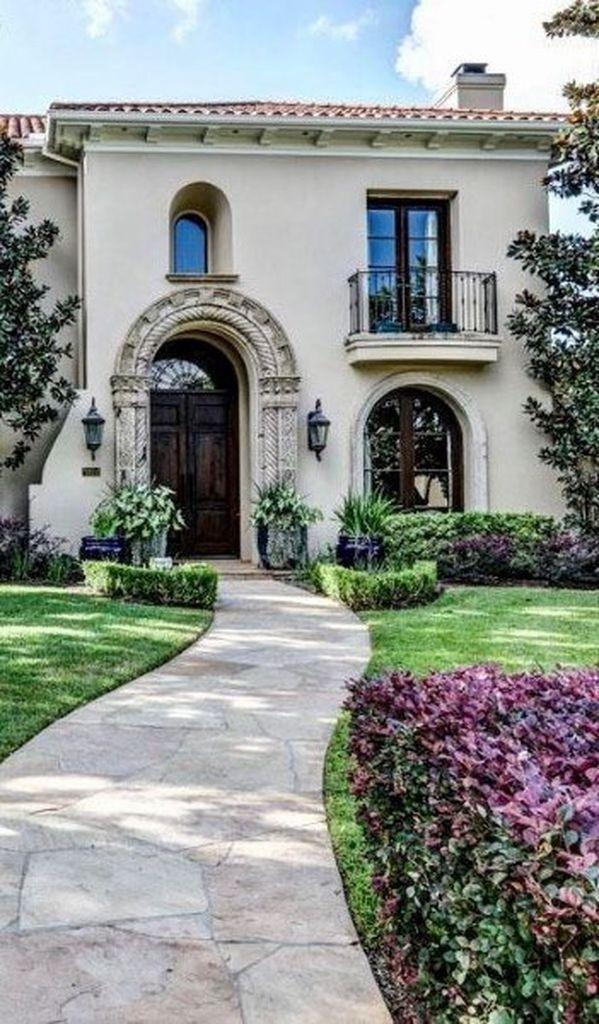 22 Simple Garden Walkway Ideas For Frontyard Mediterranean Homes Modern Mediterranean Homes Spanish Style Homes