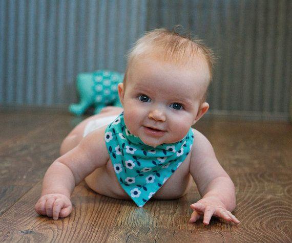 Cute as a button! Button Baby by Crafty Girls of Avon Bandana Bib