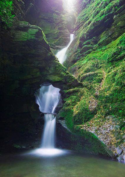 St. Nectan's Glen, Cornwell, Great Britain.