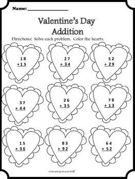 Cozy Valentine39s Day Math 2nd Grade Math Math Math