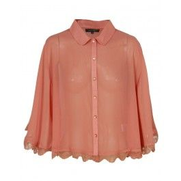 Orange Sheer Crop Cap Shirt £ 12.95