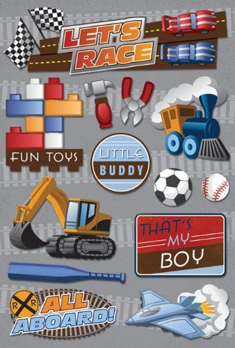 RACE ICONS Cardstock Scrapbook Stickers