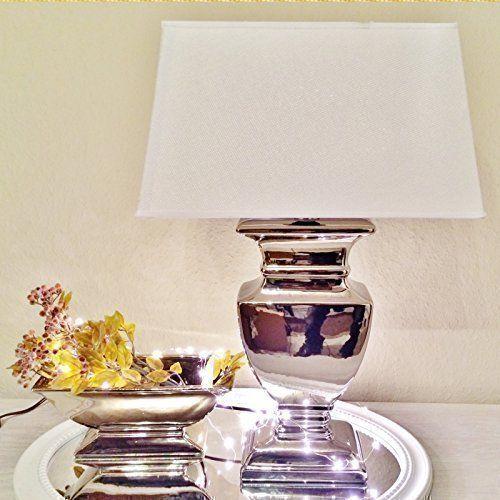 Silver Lady 35 Cm Tischlampe Weiss Silber Shabby Chic Tisc Https Www Amazon De Dp B00um9ps42 Ref Cm Sw R Pi Dp X Idlyybnr Tischlampen Lampe Nachttischlampe