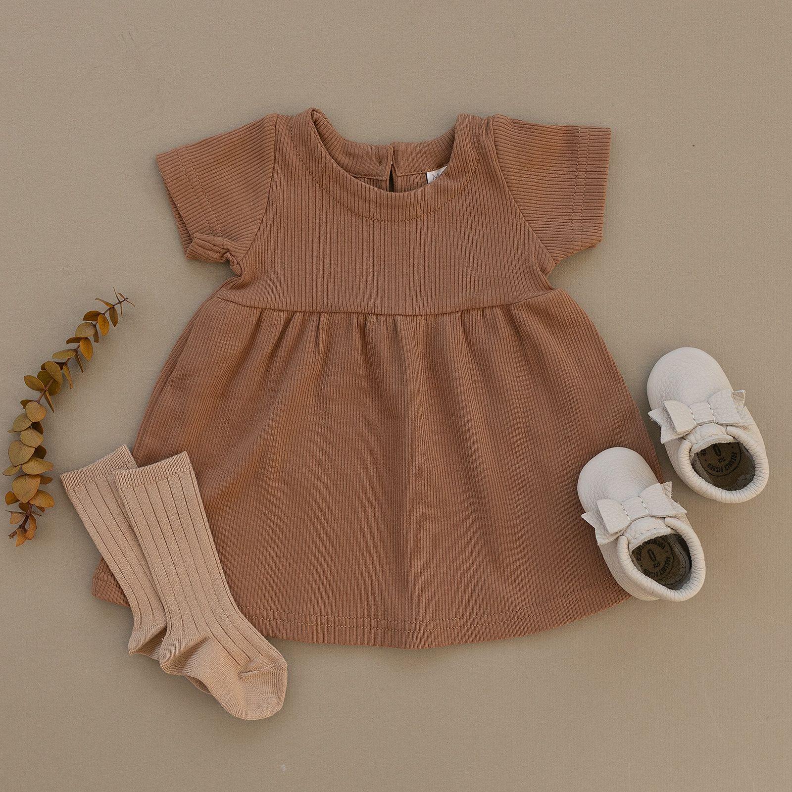 Mebie Baby Ribbed Cotton Dress  Boho baby clothes, Boho baby girl
