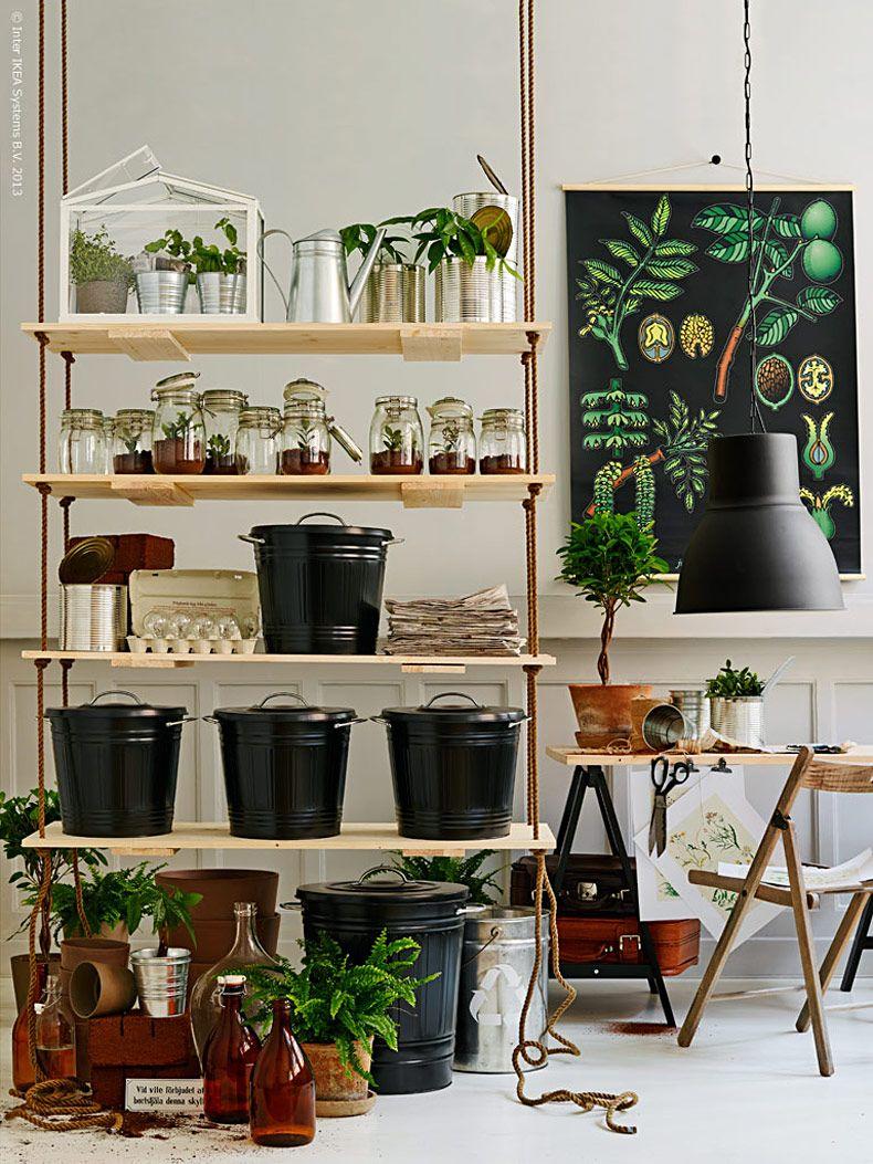 g stbloggare sortera och plantera livet hemma ikea dekoration pinterest h ngeregal. Black Bedroom Furniture Sets. Home Design Ideas