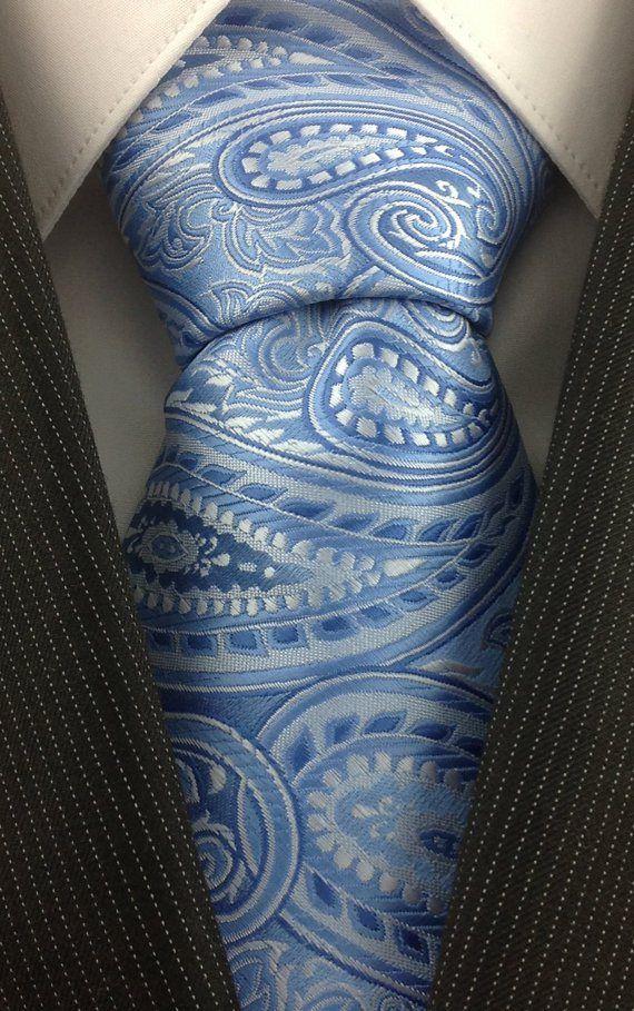 61157e487efb Blått mønstret slips Paisley Wedding, Shades Of Blue, Psychedelic, Tie  Clip, Trippy