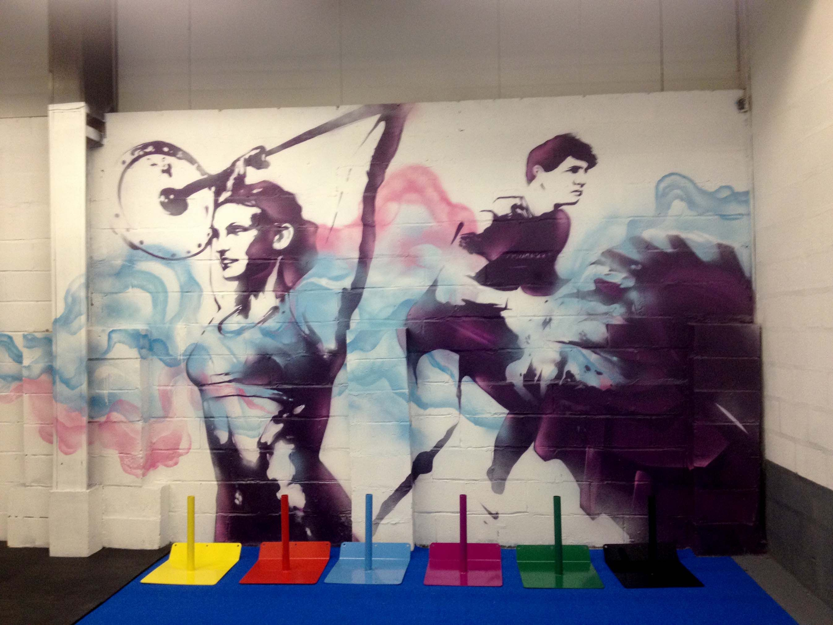 New crossfit gym mural for wod house a functional