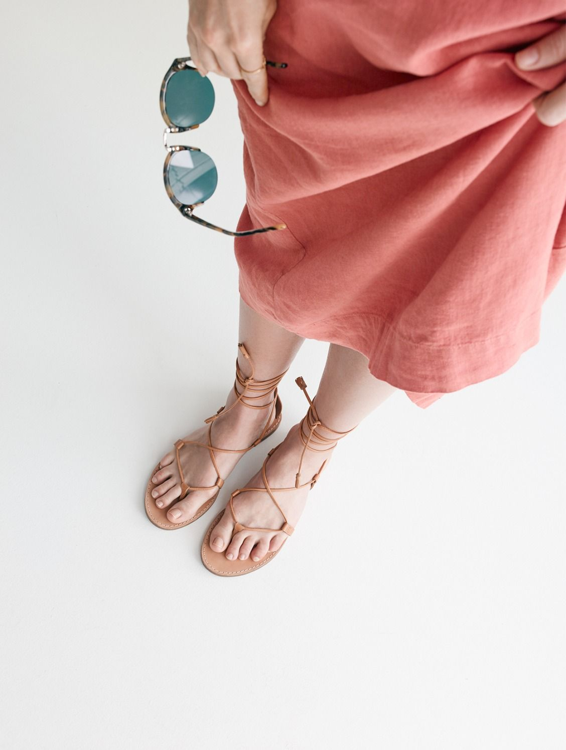 1445acbaf7a madewell boardwalk lace-up sandal worn with the apron maxi dress + memphis  sunglasses.  wellheeled
