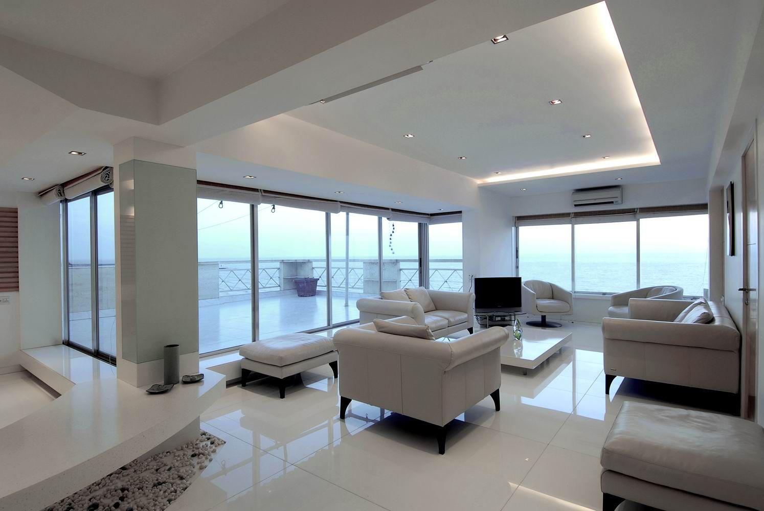 Living Room Designs Mumbai epitome of minimalistic luxury: a sea facing apartment in juhu