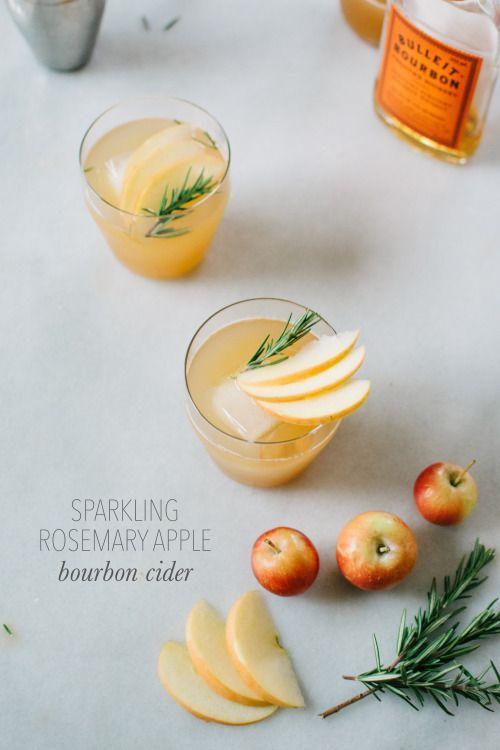 Sparkling Rosemary Bourbon Apple Cider