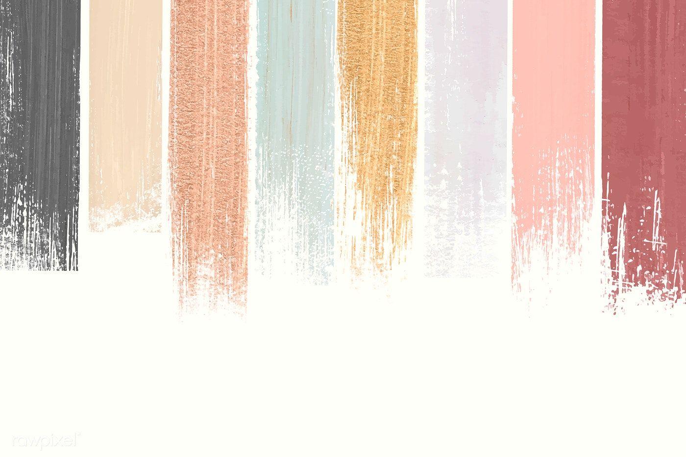 Pastel shimmering acrylic brush stroke vector free image