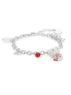 7ef05b9aa Swarovski Hello Kitty Crystal Charm Bracelet - No Color - Size No Size