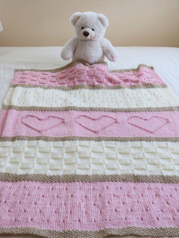 Homemade Crochet Heart Blanket Free Knitting Pattern - Lap Blanket ...