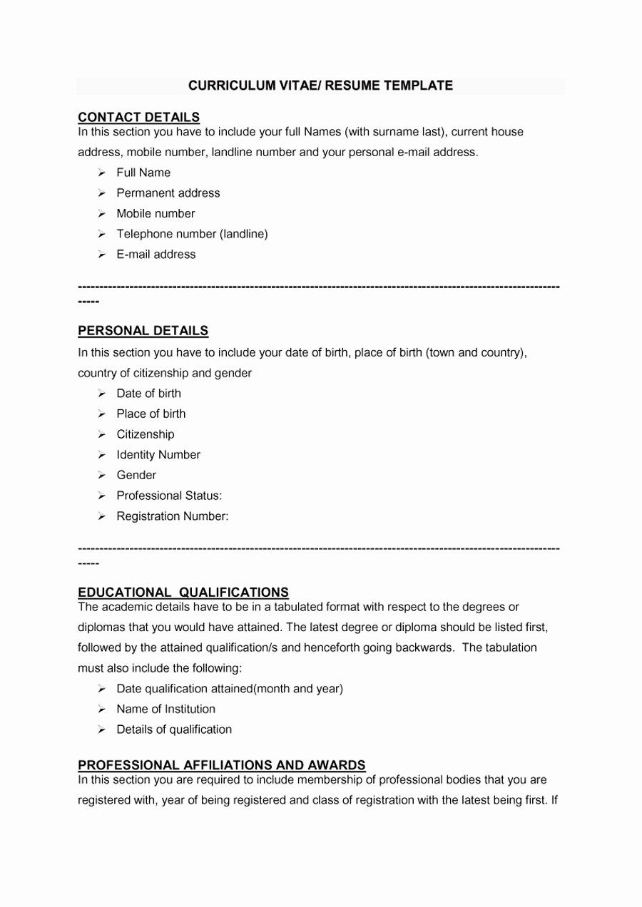 Format for curriculum vitae in 2020 sample resume cover