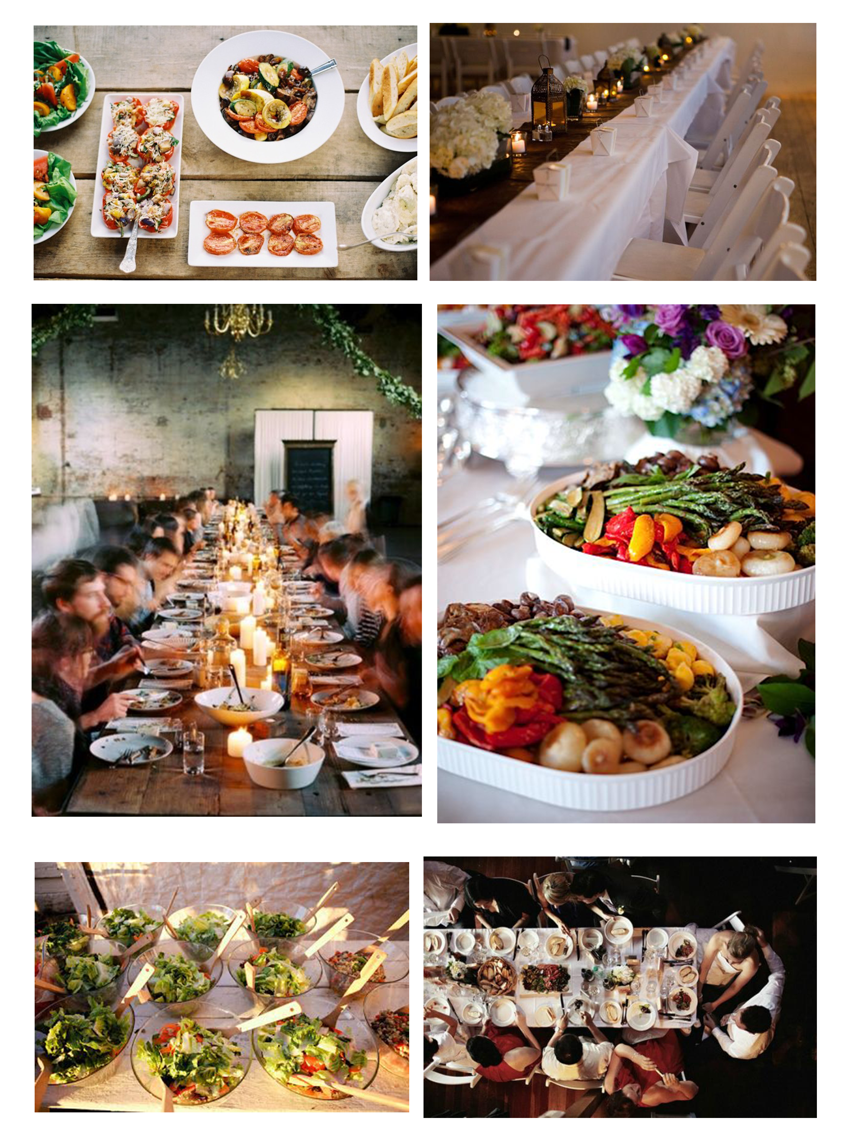Trendy Tuesday- Family Style Wedding #weddingideas #weddingtrends  #familystylewedding   Family style dinner, Wedding food drink, Reception  food