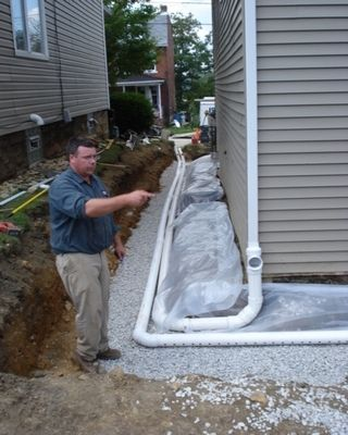 retaining wall drainage board mat walls systems sandstone french drain