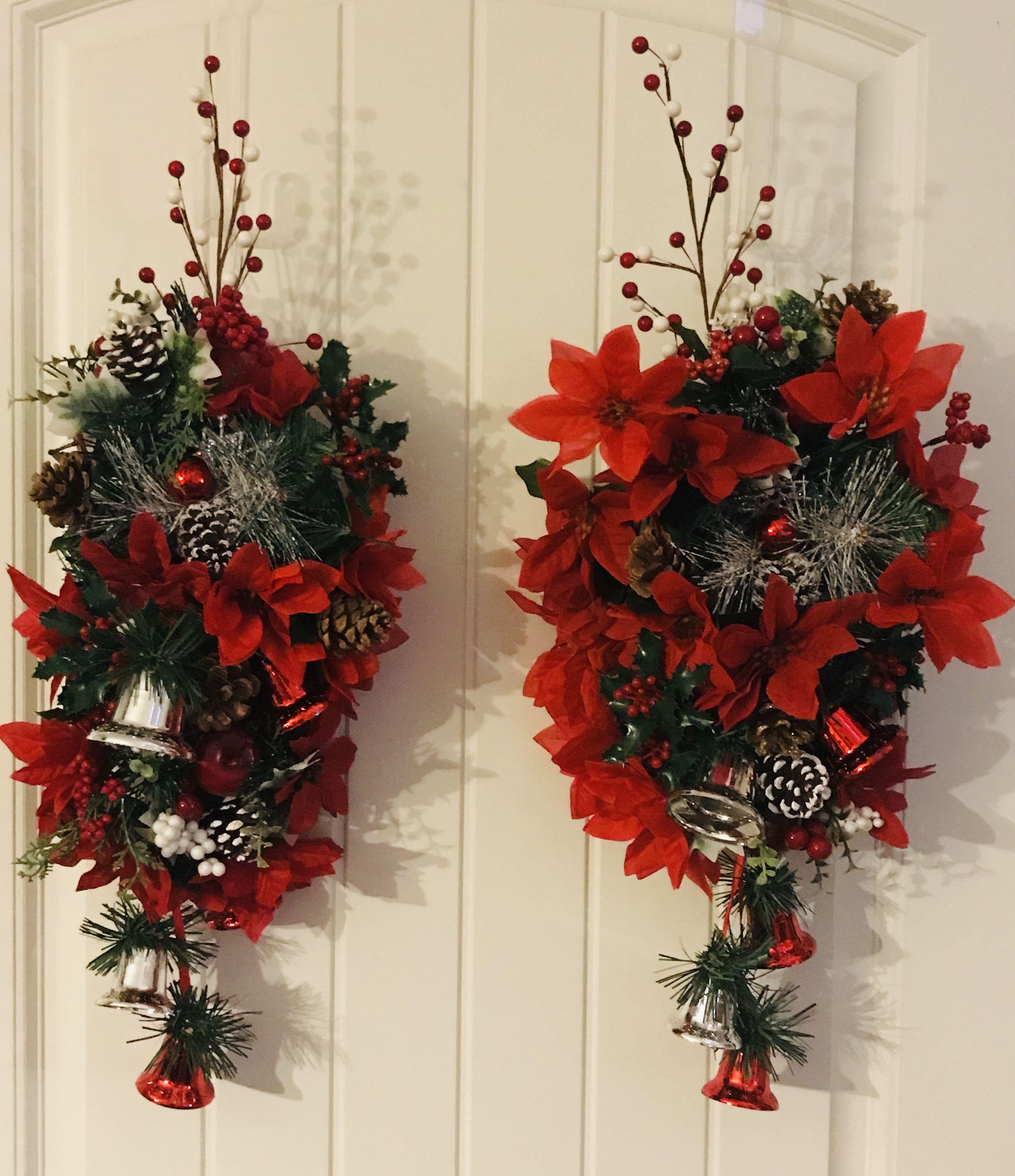 Christmas sconces Holiday decor, Christmas wreaths, Fall