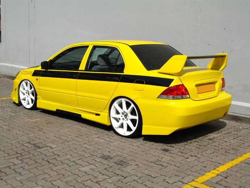 Kia Shuma Yellow Bodykit Modified Kias Modified Cars Vehicles Cars