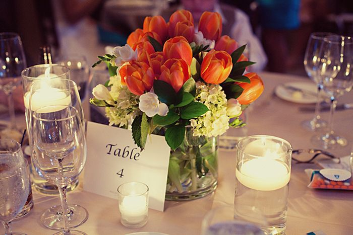 Centerpieces Tulip Wedding Inspiration