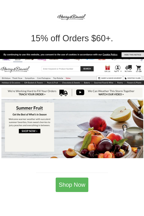 Best Deals And Coupons For Harry David Harry David Gourmet Gifts Harry And David