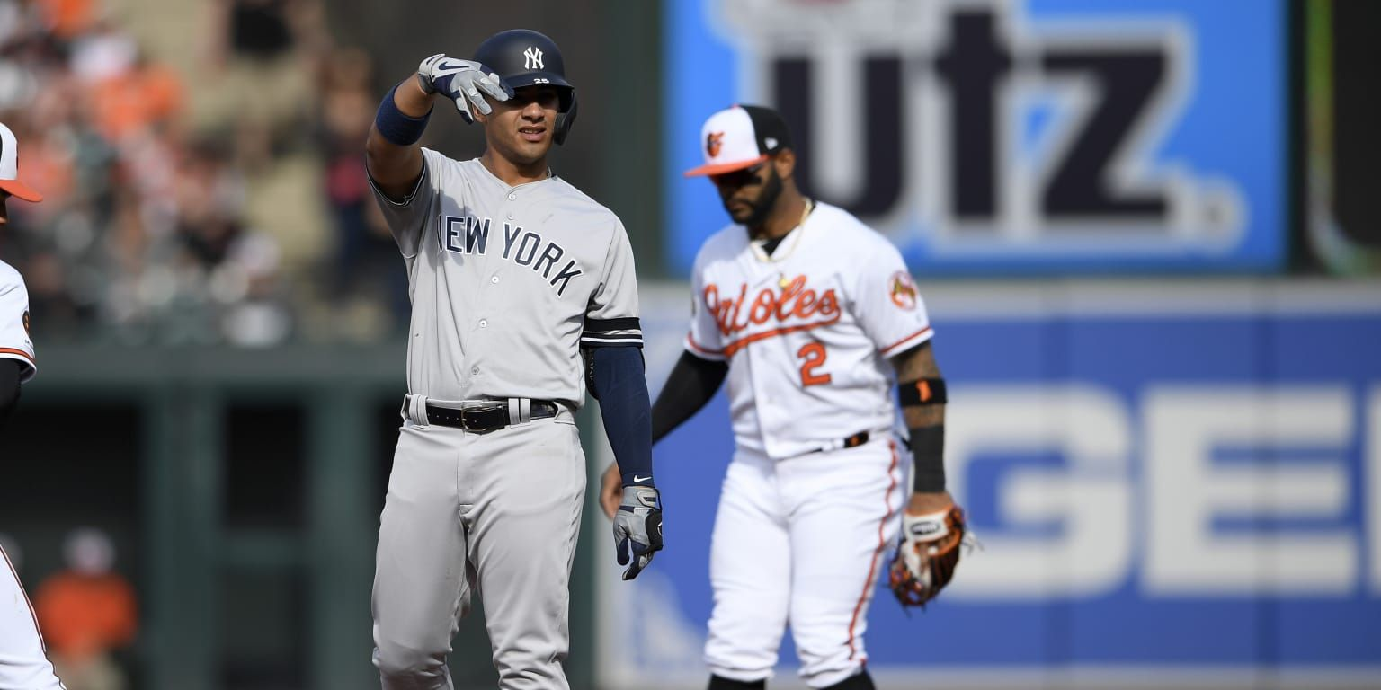 Baltimore Gleyber Torres Remembered When The Promising Yankees Infielder Celebrated His Second Multi Homer Game In The Bi Gleyber Torres Yankees Wild Pitch