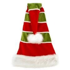 354b1290ee3bd 27 Inch Red And Green Velvet Santa Hat With White Stripes