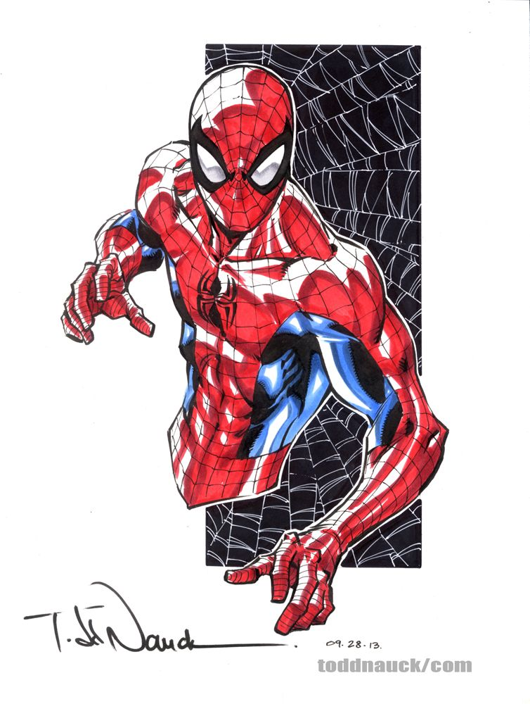 spider man comic book drawings