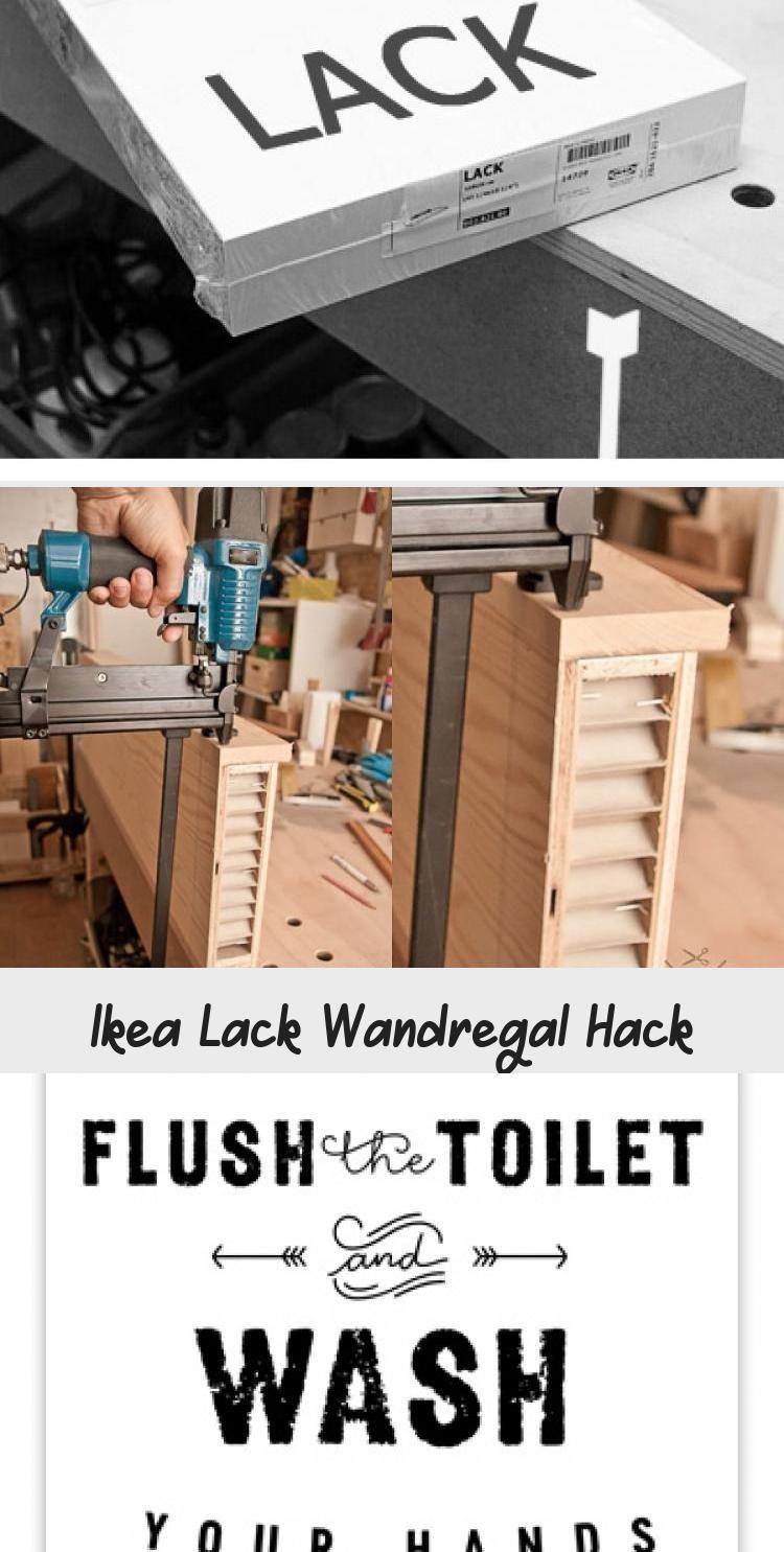 Ikea Lack Wandregal Hack In 2020 Hand Washing Toilet Flush