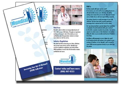 Adapting your logo in your medical brochure is essential - pamphlet sample