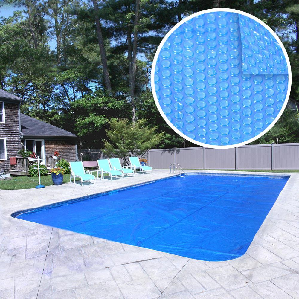 Pool Mate Deluxe 3 Year 16 Ft X 32 Ft Rectangular Blue Solar Pool Cover 1632rs 8 Boxpm The Home Depot Solar Pool Cover Solar Cover Solar Pool