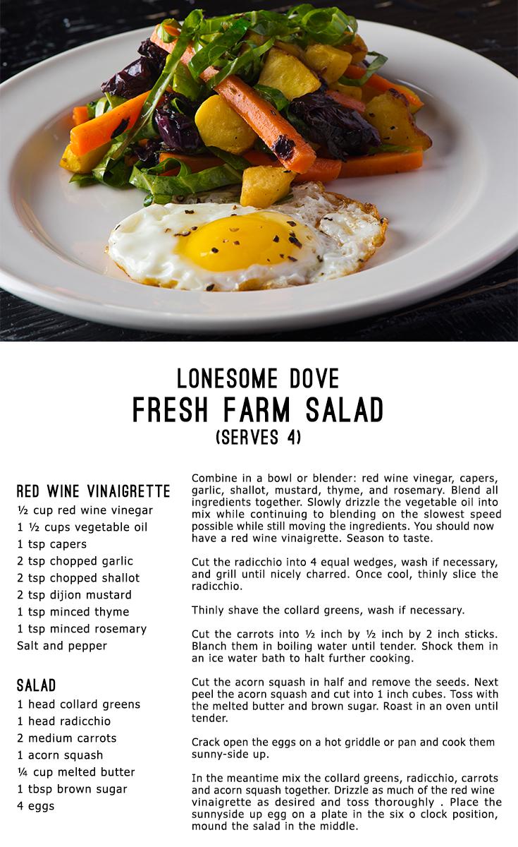 Recipe for the Lonesome Dove Western Bistro Farm Salad #ChefTimLove ...