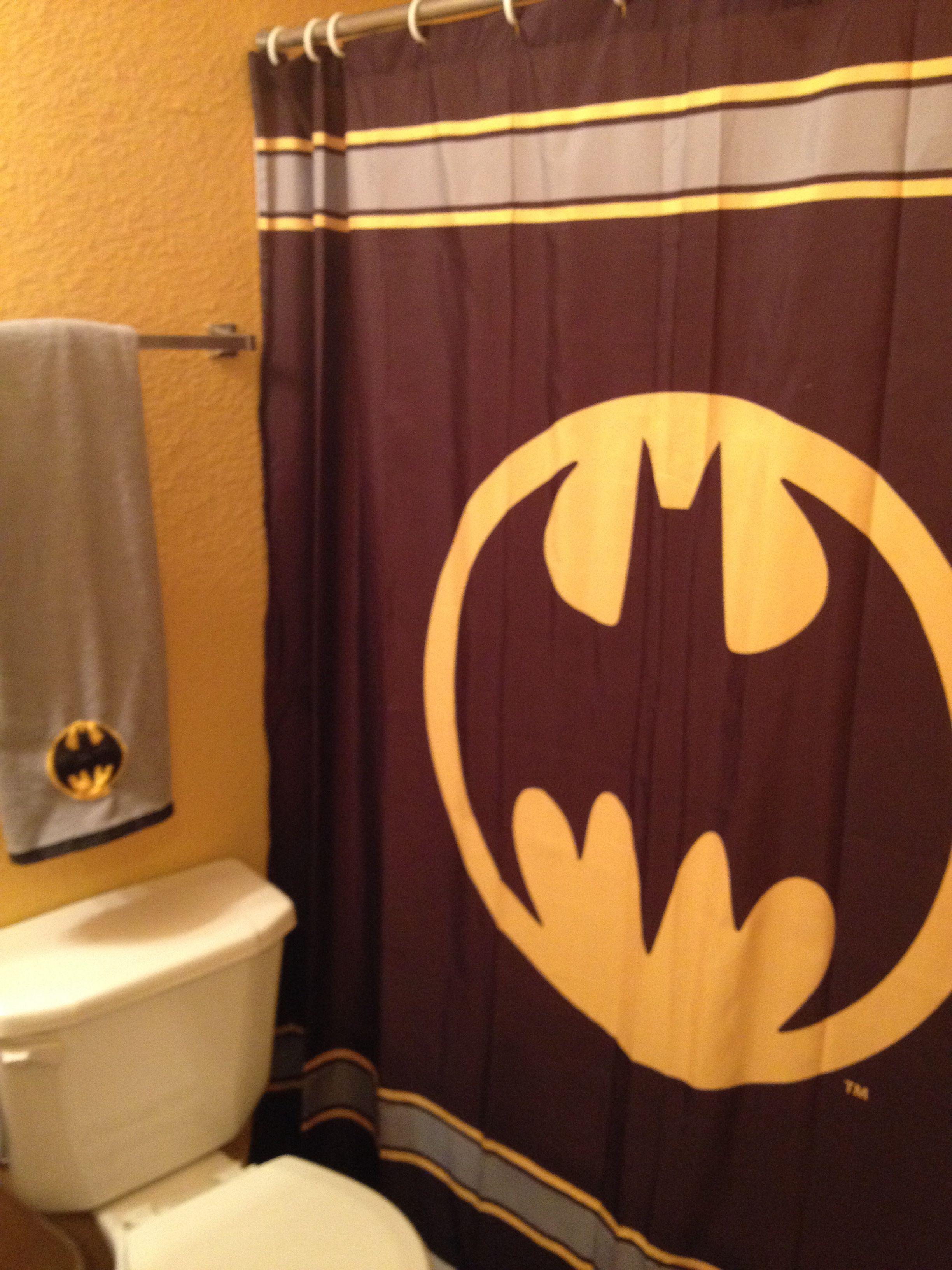 Batman Bathroom Batman Bathroom Bathroom Printed Shower Curtain