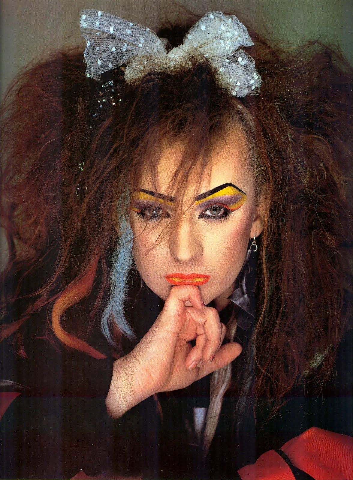 Boy george long hair pin by kelly chadwick on art  pinterest