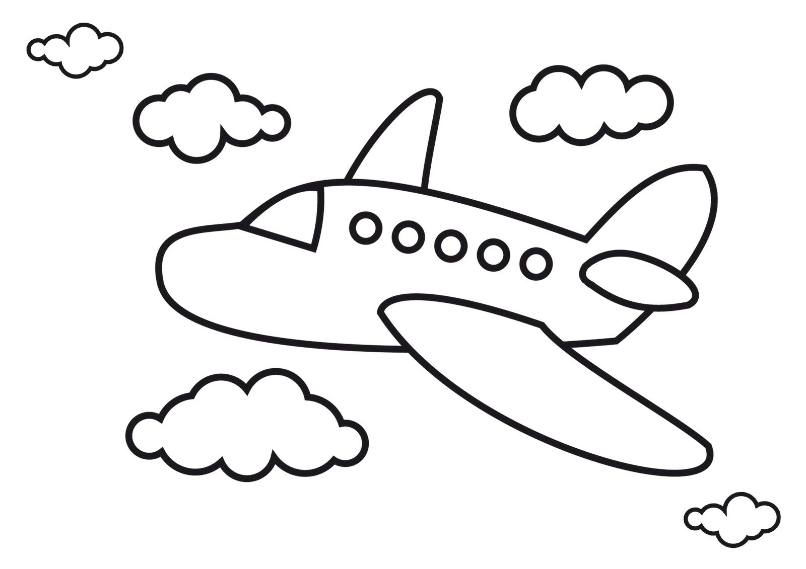 Airplane Pictures For Kids Airplane Coloring Pages Simple
