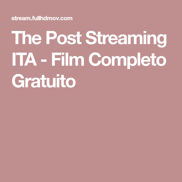 The Post Streaming